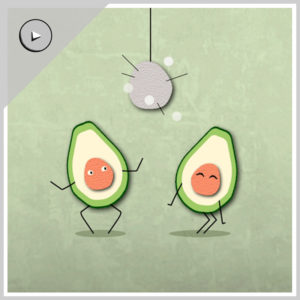Avocados love to party hard!
